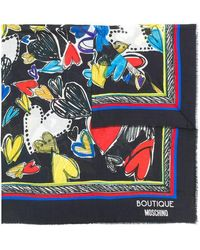 Boutique Moschino - Heart-patterned Shawl Scarf - Lyst