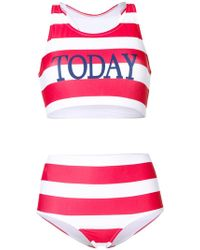 Alberta Ferretti | Striped Two-piece Swimsuit | Lyst