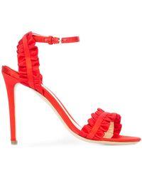 Monique Lhuillier - Ruffle Detail Stiletto Sandals - Lyst