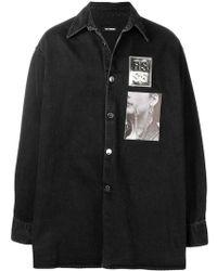 Raf Simons - Oversized Appliquéd Denim Shirt Jacket - Lyst