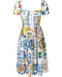 Dolce & Gabbana - Majolica Broderie Anglaise Dress - Lyst