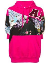 Antonio Marras - Floral Panelled Hooded Sweatshirt - Lyst