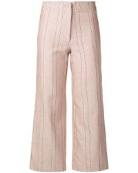 Roseanna - Pinstripe Cropped Trousers - Lyst