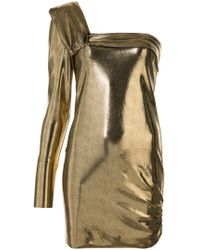 Baja East - One Shoulder Mini Dress - Lyst