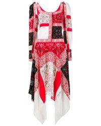 Alexander McQueen - Patchwork Long Dress - Lyst