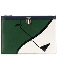 Thom Browne - Golf Intarsia Small Tablet Holder - Lyst
