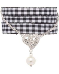Miu Miu - Gingham Ribbon Charm Bracelet - Lyst