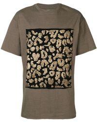 83192bd2f05 Saint Laurent Distressed Leopard Print T-shirt for Men - Lyst