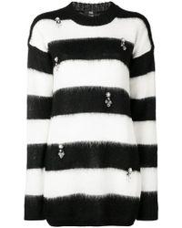 Class Roberto Cavalli - Striped Embellished Jumper - Lyst