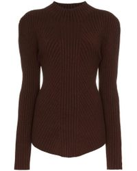 Low Classic - Whole Garment Knitted Wool Jumper - Lyst