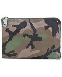 Valentino - Camouflage Document Case - Lyst