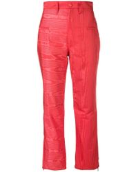 Marine Serre - High-waisted Plasticized Trousers - Lyst