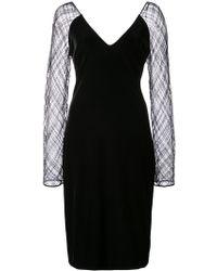 Badgley Mischka - Sheer Sleeves Dress - Lyst