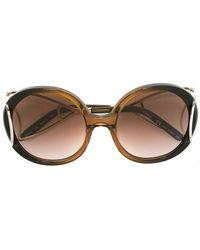 2a8186bd042e Lyst - Chloé Ce703s Jackson Sunglasses in Metallic
