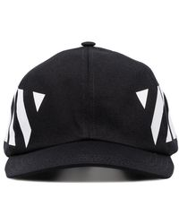 7f0919ee Off-White c/o Virgil Abloh - Black And White Diag Cotton Cap -