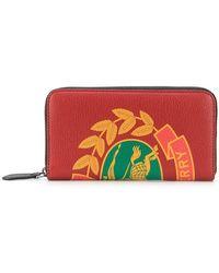 0e06a1f3b Billetera De Piel Con Logo Vintage Gucci de hombre de color Rojo - Lyst