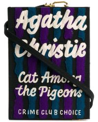 Olympia Le-Tan - Cat Among The Pigeons Strapped Book Clutch - Lyst