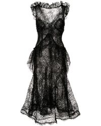 Rodarte - Sheer Structured Dress - Lyst