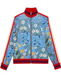 Gucci - New Flora Technical Jersey Jacket - Lyst