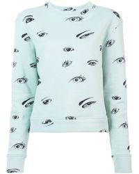 The Elder Statesman - Eye Print Sweatshirt - Lyst
