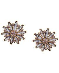 Versace - Crystal Embellished Earrings - Lyst
