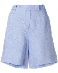 Loro Piana - Tab Front Short Shorts - Lyst