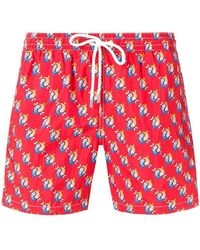 Eleventy - Fish Patterned Swim Shorts - Lyst