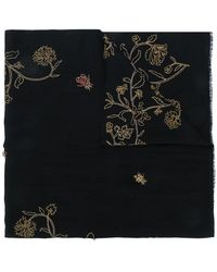 Janavi - Bush Bugs Embroidered Scarf - Lyst