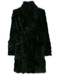 Dolce & Gabbana - Wrap Fur Coat - Lyst