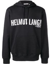 Helmut Lang - Kapuzenpullover mit Logo - Lyst
