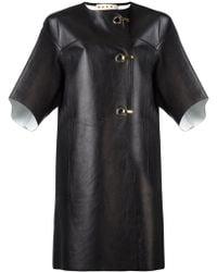 Marni - Hook And Eyelet Leather Coat - Lyst