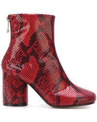 Maison Margiela - Snakeskin Effect Ankle Boots - Lyst