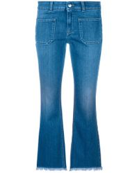 Stella McCartney - Cropped Jeans - Lyst