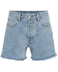 Helmut Lang - Cut Off Boy Fit Denim Shorts - Lyst