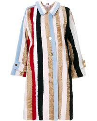 Thom Browne Raglan Sleeve Fur Overcoat