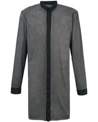 Unconditional - Contrast Long Funnel Neck Shirt - Lyst