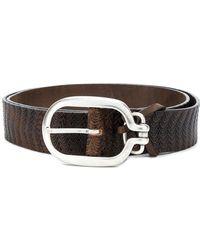 Al Duca d'Aosta - Classic Buckled Belt - Lyst