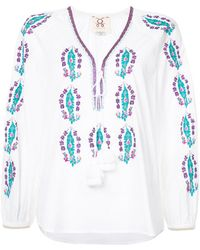 Figue - Rosette Embroidered Top - Lyst