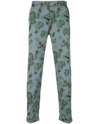 Jeckerson - Print Fitted Trousers - Lyst