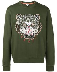 KENZO | Embroidered Tiger Sweatshirt | Lyst