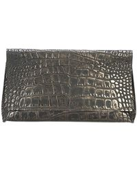B May - Embossed Clutch Bag - Lyst
