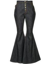 Ellery - Ophelia Wide Leg Flare Jeans - Lyst