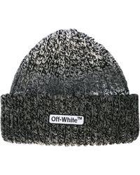 Off-White c/o Virgil Abloh - Logo Patch Beanie - Lyst