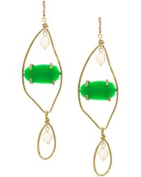 Marni - Large Gemstone Pendant Earrings - Lyst
