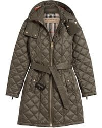 Burberry - Quilted Showerproof Parka - Lyst