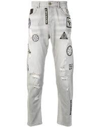 John Richmond - Patchwork Jeans - Lyst