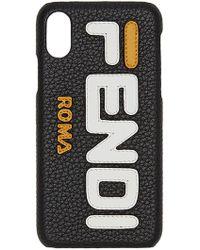 ee808ecdb39e Fendi Mania Logo Iphone X Case - Lyst