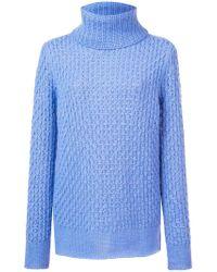 Les Copains - Oversized Turtleneck Sweater - Lyst