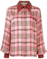 Emilia Wickstead - Camicia con stampa tartan - Lyst
