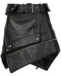 Alexander Wang - Belted Mini Skirt - Lyst